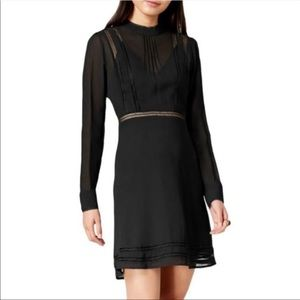 ASTR The Label Crochet Sheer Fit & Flare Dress NWT
